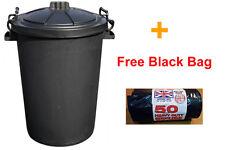 85 LITRE HEAVY DUTY BIN LOCKING LID RUBBISH + FREE 50 HEAVY DUTY BLACK BAGS !!