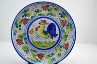 Vietri Galletto Rooster Chicken Hand Painted Italian Dinner Wall Plate 10 7/8""
