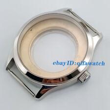 Fit Eta 2836,Miyota 8215/821A Movement P801 42mm Sapphire Glass Steel Watch Case