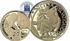 Vatican 20 & 50 Euro Or 2014 PP 2 pièces d'or Michel-Ange & libyens Sybille