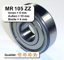 Radiales Rillen-Kugellager MR105ZZ - 5x10x4, Da=10mm, Di=5mm, Breite=4mm