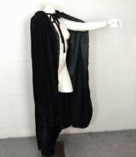 Awei Bridal Black Velveteen Hooded Cape Size M