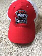 Charlotte Checkers Hat Hockey Baseball Snap Back Cap Red White