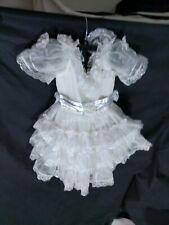 Vtg White Full Circle Dress Girls Sz 5