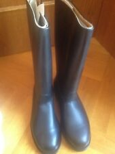 GERMAN ARMY JACKBOOTS KNOBELBECHER BLACK LEATHER US 10 EUR 43 BW 280 UK 9