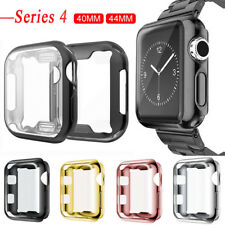 For Apple Watch Series 5 4 Soft TPU Bumper Case Cover Screen Protector 44mm 40mm