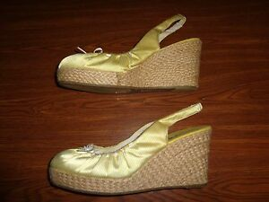 American Eagle Outfitters WEDGE SHOES WOMEN'S SIZE 11 (3.5 INCH HEEL)