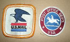 Vintage 1960's and 1970's U.S. Mail Uniform Patches Post Office Dept USPS Postal