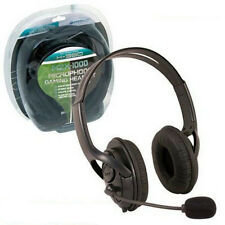 Xbox 360 MZX-1000 Lives Stereo Microphone Headset Black Brand New