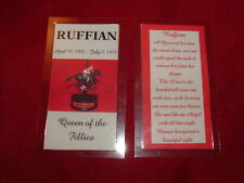 NEW RUFFIAN Memorial Tribute Card Horse Racing Keepsake