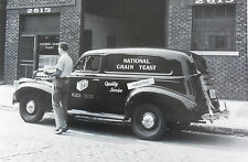 """12 By 18"""" Black & White Picture 1940 Chevrolet Sedan / Delivery"""