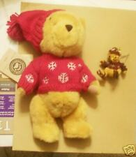 Boyds Winter Holiday Pooh Plush w/ Resin Ornament 2000