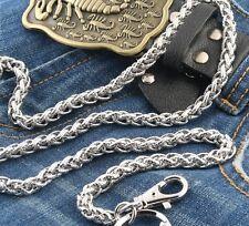 Basic Strong Twisted EMO Biker Trucker Keychain Key Jean Wallet Chain CS39