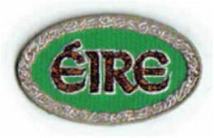 EIRE Green Oval Irish Embroidered Badge Patch - Irish