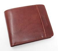 Woodbridge Designer Top Grain Real Leather Coin Pocket Wallet For Men 4002-BROWN