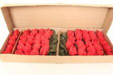 Stoffrosen Red Art Roses Decorative Flower Silk Bouquet Wedding NOS