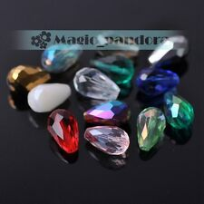 10X16mm Glass Crystal Teardrop Faceted Loose Spacer Beads Jewelry Findings DIY