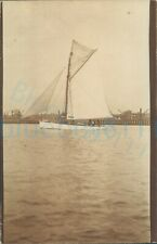 More details for 1919 original photo capella yacht sailboat fleetwood background august 5.5x3.5