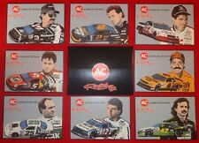 AC Racing Leaders of the Track NASCAR 8 Card Set 1992 Earnhardt Waltrip Wallace
