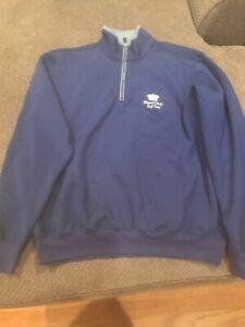 Fairway And Greene Tech 1/4 Zip Pullover Mens M Royal Links Golf Club Euc
