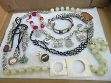 Vintage Jewelry Lot Necklace Bracelet Brooch Charm Bracelet & more (638B)