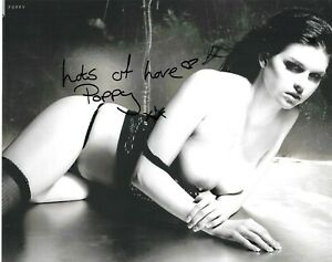 SEXY POPPY RIVERS SIGNED PAGE 3 TOPLESS NUDE GLAMOUR MODEL 10x8 GLOSSY PHOTO2