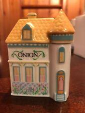 The Lenox Spice Village Victorian House Spice Jar Fine Porcelain ONION - NICE!