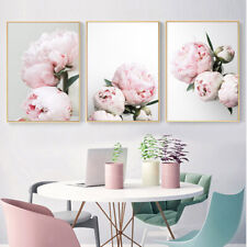 Blush Pink Peony Flower Poster Canvas Botanical Print Nordic Decoration Picture