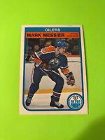 Mark Messier O-Pee-Chee NHL Hockey Card #117 1982-83 Oilers