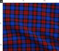 Blue Plaid Red Tartan Scottish Maclachlan Spoonflower Fabric by the Yard