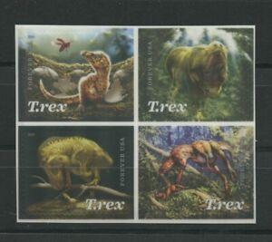Dinosaur Tyrannosaurus Rex T-Rrex Mint Self-adhesive block 2019 USA Forever