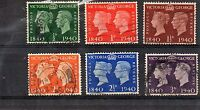 George V1 used set of six used stamps. SG 478 to 484