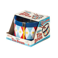 Schylling Toys Classic Little Tin Drum #TD - Circus, Diamond Pattern, Star