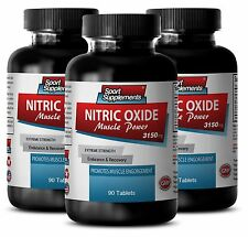 Glutamine Tablets - Nitric Oxide Muscle Power 3150mg - Blood Flow To Muscle 3B