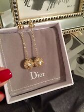 Christian Dior Golden Toned Cannage Earrings