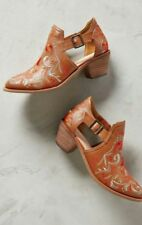 Anthropologie Kline Embroidered Cutout Bootie by Kelsi Dagger Brooklyn KDB  9.5