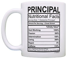 Principal Gifts Principal Nutrional Facts Label Principal Coffee Mug Tea Cup
