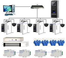 Bio 4 Doors Fingerprint/ RFID Access Control Systems & Motion Sensor+EM Lock+PSU