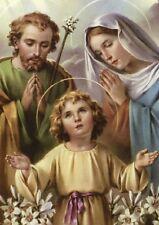 Image pieuse carte postale Sainte Famille