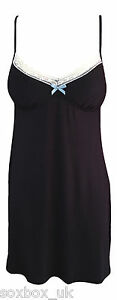 Ex Rouge Gorge soft slinky Jersey Chemise Night dress with bust support