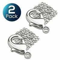100 x Silver Plated Lobster Clasps Claw Jewelry Fastener Hook 12mm