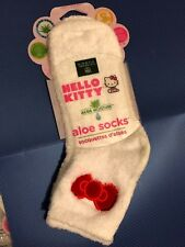 Earth Therapeutics HELLO KITTY Aloe Socks (White)
