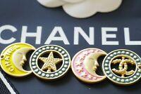 One 1 Auth Chanel button 1 pcs  cc 7 cm  or 3 inch Emblem