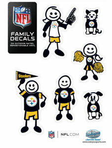 NFL Pittsburgh Steelers Small Family Decal Set