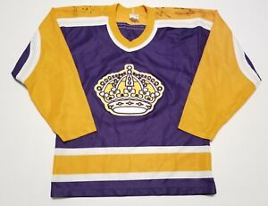 Vintage 1980-90s Los Angeles Kings Signed CCM Hockey Small Jersey