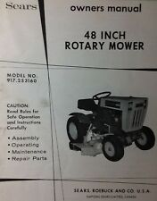 Sears Lawn Garden Tractor Suburban 48 Mower Deck Owner & Parts Manual 917.253160