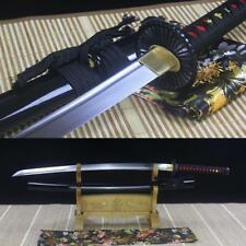 Real Japanese Samurai Sword 1095 High Carbon Steel Full Tang Blade Sharp Katana