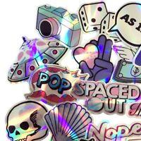 Metallic Holo Shiny PVC Sticker Bomb, Vinyl Decal Lot, Skateboard Laptop Luggage