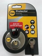 Yale High Security Anti-cut 70mm Round Disc Padlock Extra Strength Shackle