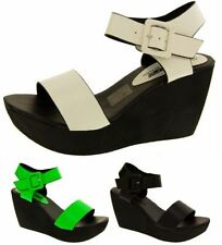 Women's Multi-Coloured Wedge High Heel (3-4.5 in.) Sandals & Beach Shoes